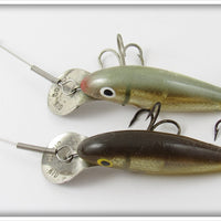 Wallsten Tackle Co Green Gold & Brown Gold Midget Cisco Kid Pair