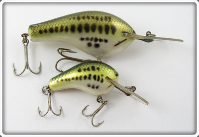 Vintage Bagley Little Bass On White Lure Pair