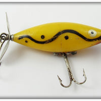 Vintage Tackle Industries Yellow Snake Line Skip Jack Lure