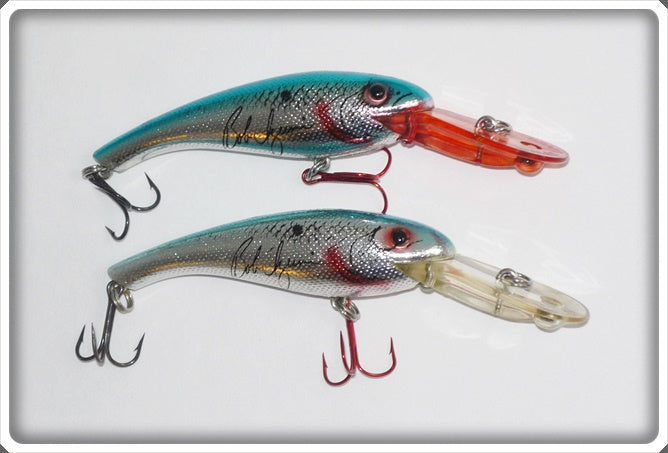 Cordell 7 10 Wally Diver Pair: Metallic Silver Blue Back Bob Izumi