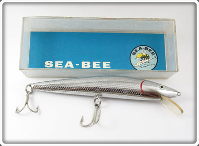 Vintage C-B Tackle Co Chrome Sea Bee Lure In Box