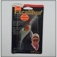 Bill Dance Excalibur Suspending Fat Free Shad Coppernose Bluegill On Card
