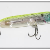Bill Dance Excalibur Super Spook Jr Clear W/ Green Back