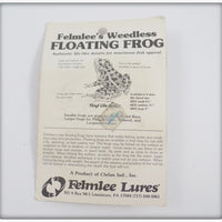 Felmlee's Brown Weedless Floating Frog On Card