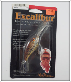 Bill Dance Excalibur Fat Free Shad Natural Crawdad On Card
