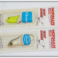 Norman Front Runner Pair On Card: Chartreuse/Green & Smokey Shad