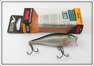 Rapala Silver & Black Scatter Rap Lure In Box SCRS-07