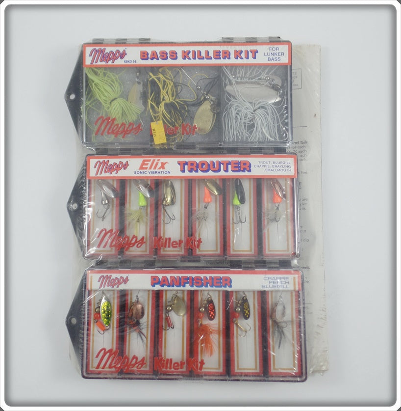 Mepps Sealed Killer Kits: Bass Killer, Elix Trouter, & Panfisher
