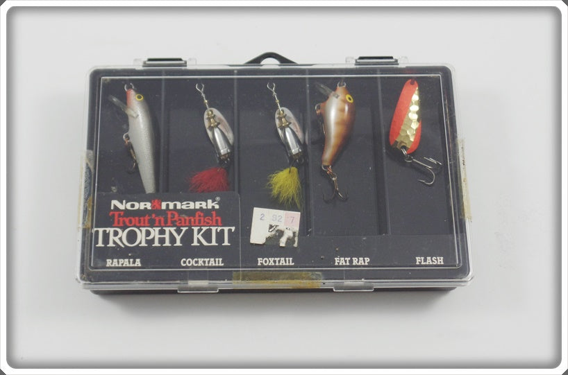 Normark Trout N Panfish Trophy Kit: Rapala, Cocktail, Foxtail, Fat Rap, & Flash
