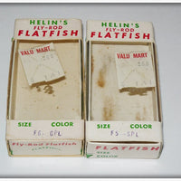Helin Gold Plate Flyrod Flatfish Pair In Boxes