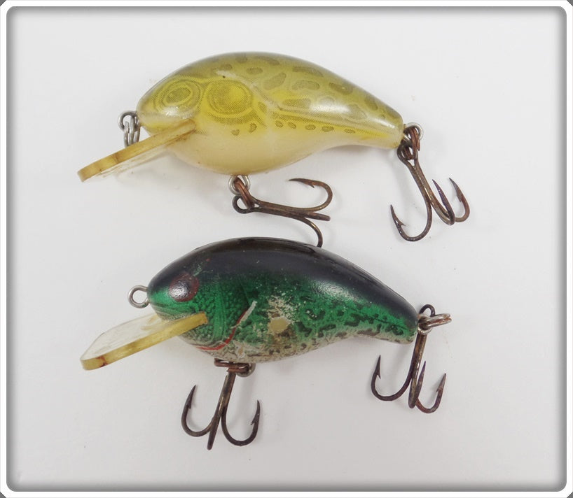 Rebel Square Lip Teeny R Pair: Natural Frog & Natural Crappie