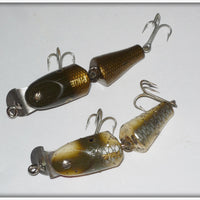 CCBC Wooden Spinning Jointed Pikie Pair: Silver Flash & Pikie Scale