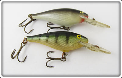Vintage Rapala Black/Silver & Perch Deep Runner Lure Pair