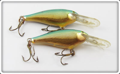 Vintage Rapala Chrome & Blue Deep Runner Lure Pair