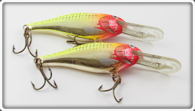 Vintage Rapala Chrome & Yellow Deep Runner Lure Pair
