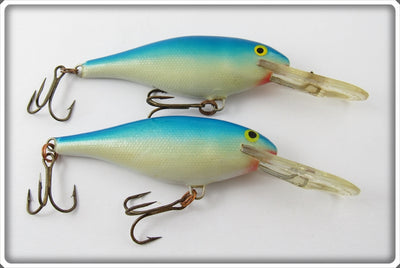 Vintage Rapala Blue & Silver Deep Runner Lure Pair