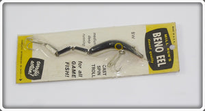 Mill Run's Black & White Four Section Beno Eel On Card