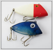 Vintage Pico Blue Scale Pico Perch & Red/White Bayou Boogie Lure Pair
