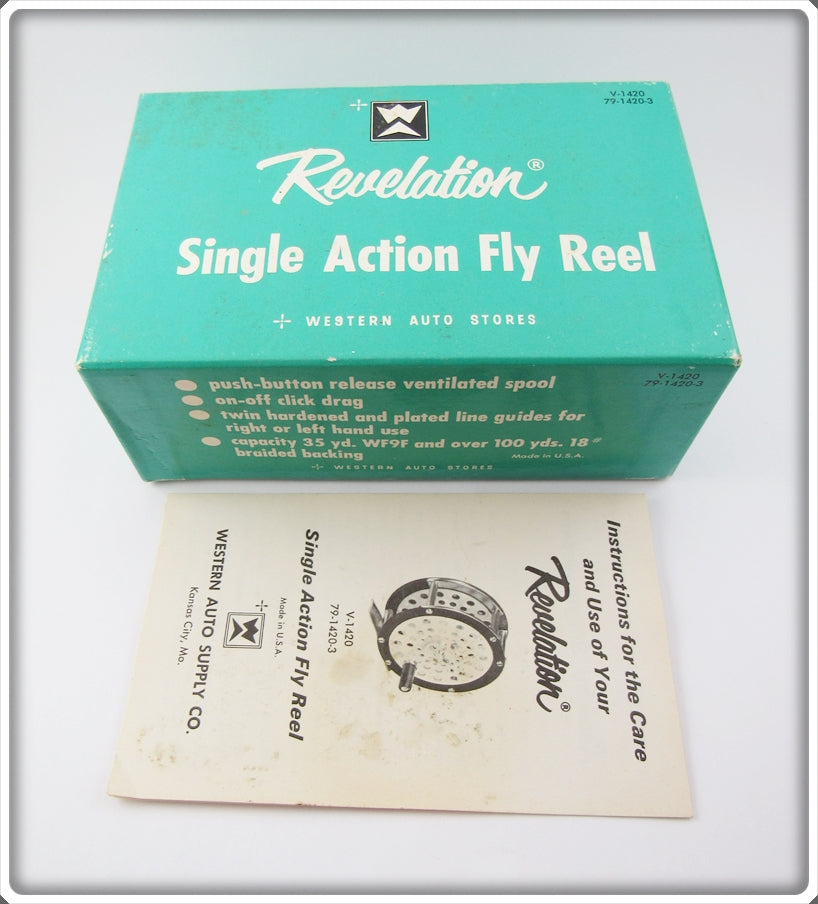 Western Auto Revelation Single Action Fly Reel Empty Box