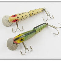 Wright & McGill Miracle Minnow Pair: Spotted White & Perch
