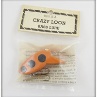 Myers Lure Co Orange With Black Spots Crazy Loon In Package