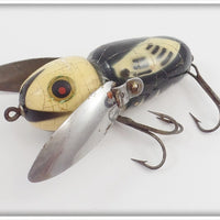 Heddon Black White Head Crazy Crawler