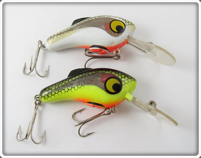 Vintage Viking Chartruese & White Electronic Lure Pair