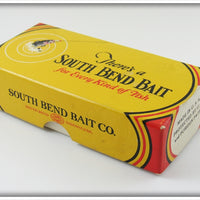 South Bend Red Arrowhead White Body Rascal In Box