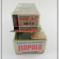 Rapala Silver & Blue Sinking Count Down Pair In Boxes