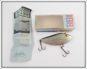 Rebel Silver & Black Shad In Box With Paperwork