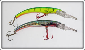Reef Runner Ripstick Pair: Natural Perch & Metallic Chrome Blue Back
