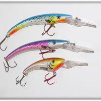 Reef Runner Trio: 2 Natural Trout Rip Sticks & 1 Natural Ripshad