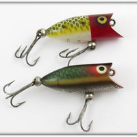 Heddon Red Head Frog Scale & Green Scale Tiny Lucky 13 Pair