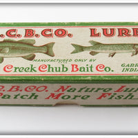 Vintage Creek Chub Silver Flash Pikie Empty Lure Box 718