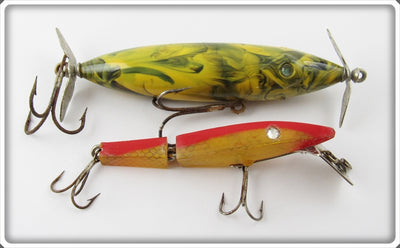 Vintage Capt Jim Strader Diamond Eye & Diamond Jim Lure Pair
