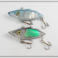 Norman Rat'l Trap Pair: Transparent With Foil