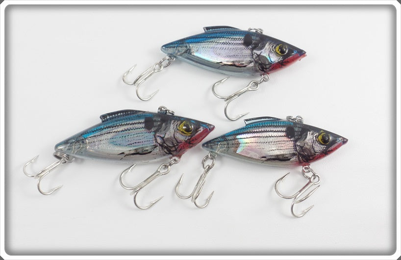 Bill Lewis Rat'l Trap Lot Of Three: Lectric Shad