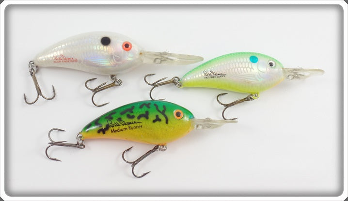Bill Dance/Bomber Lot Of Three: 2 Fat Free Guppy & Susp Fingerling