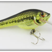 Bagley Little Bass On Chartreuse Small Fry Bass Lure