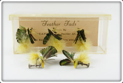 Vintage Feather Fads Fly Earrings & Hat Pins Set In Box