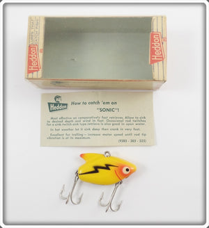Heddon Yellow Sonic In Correct Box 385 Y