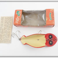 Buck's Baits White & Red Spoonplug In Correct Box
