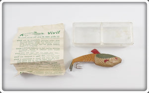 Vivif Green & Gold Living Action Lure In Original Box With Paperwork