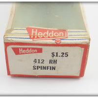 Heddon Red Head White Body Spinfin In Correct Box