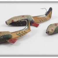 Vivif Living Action Lure Lot Of Three: Green/Gold & Silver/Black