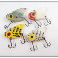 Lazy Ike Sail Shark Lot Of 4: Shad, Yellow Coachdog, Coachdog, Red/White