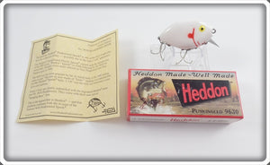 Heddon White W/Red Gills Reissue 9630 Punkinseed 2nd In Box