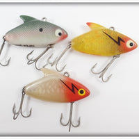 Heddon Super Sonic Lot Of Three: Yellow/Red, Shad & Transparent/Red