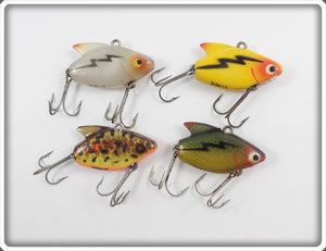 Heddon Sonic Lot Of Four: BRS, Perch, Yellow, & Translucent White