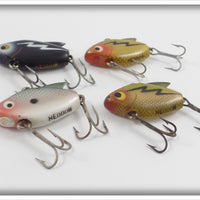 Heddon Sonic Lot Of Four: Shad, Perch, & Black